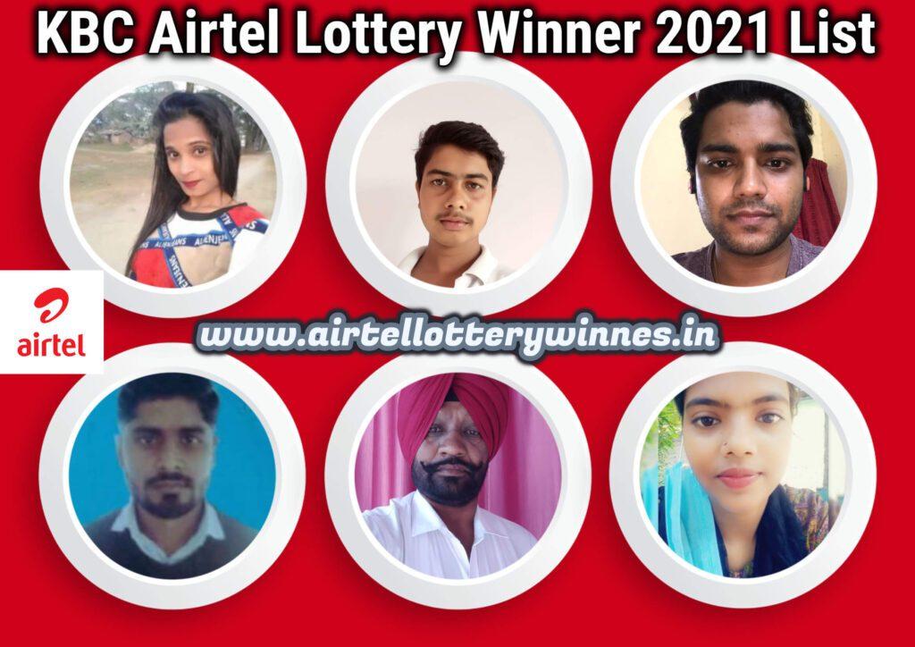 airtel lottery winner 2021 list